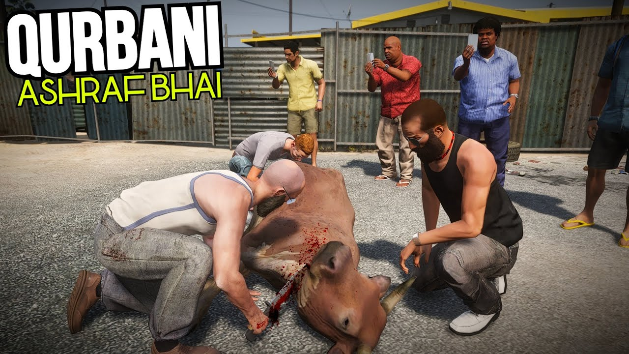 QURBANI BY ASHRAF QASAI | FUNNY 'MANDI SERIES' BAKRA EID EPISODE 9 | GTA 5 MODS PAKISTAN