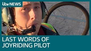 Hear the last regret of Seattle plane thief in doomed joyride | ITV News