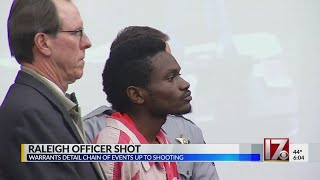 Court docs shed light on events before Raleigh officer's shooting