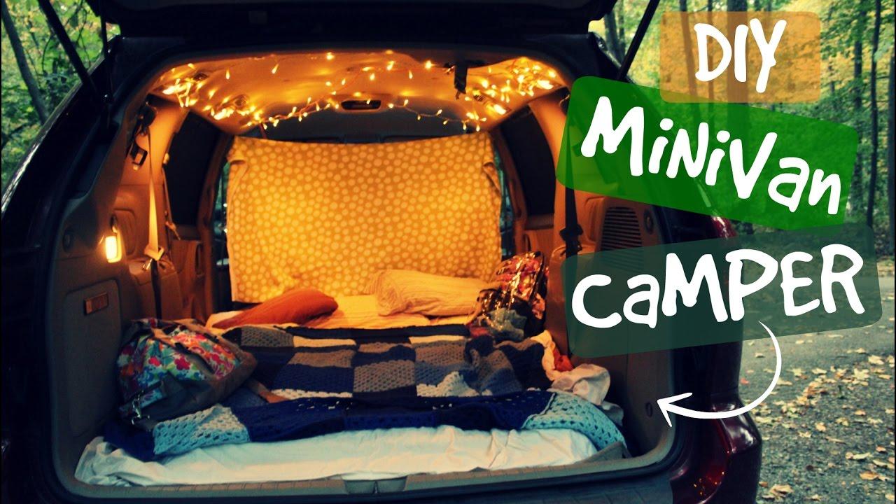Diy Minivan Camper Conversion Youtube
