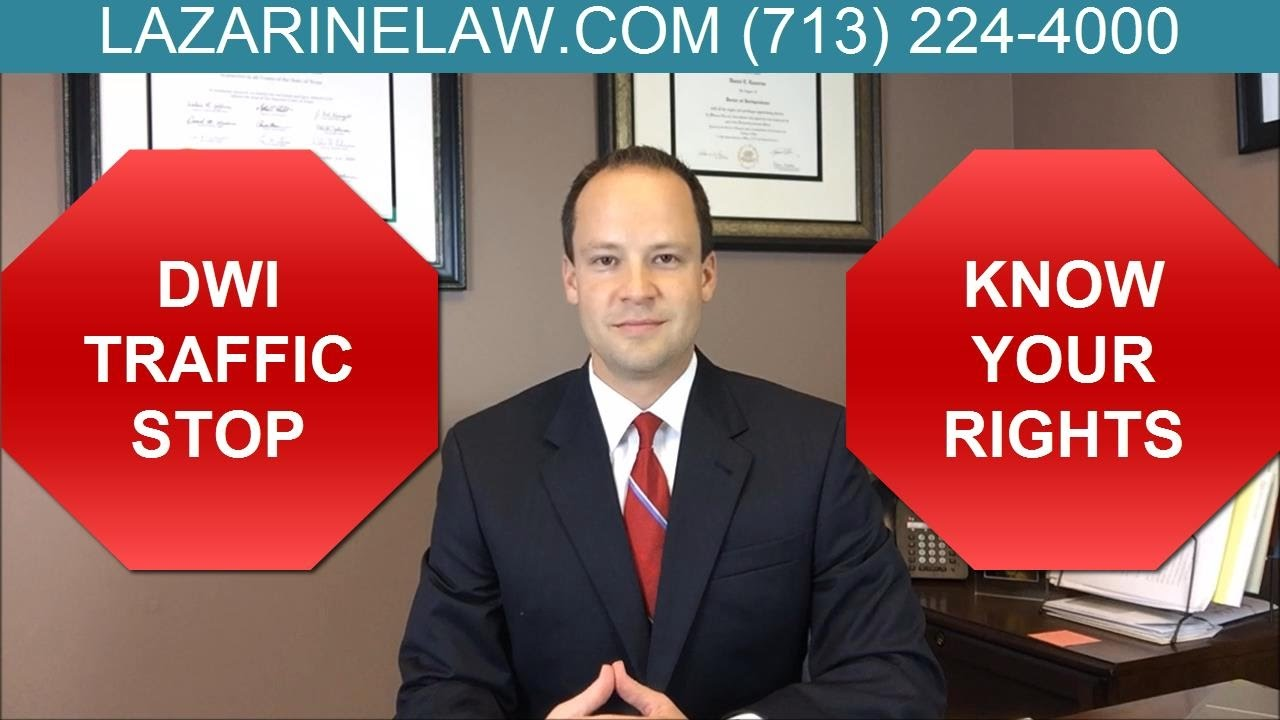 What Are My Rights During A Traffic Stop >> What Are My Rights During a DWI Traffic Stop? Attorney Dan Lazarine - YouTube