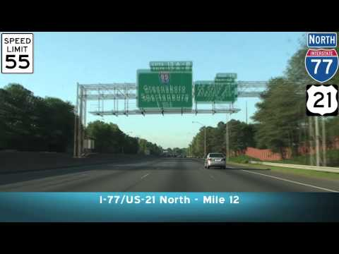 Charlotte NC: I-277 To I-77 North