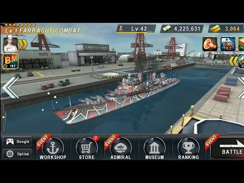 Warship Battle: USS FARRAGUT Destroyer In Boss Attack Stage 1 To 18..