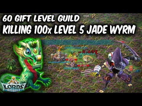 100X Level 5 Jade Wyrm Gifts In 60 Level Gift Guild - Lords Mobile