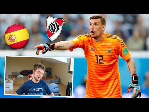 ESPAÑOL REACCIONA A FRANCO ARMANI | Jugador de RIVER PLATE
