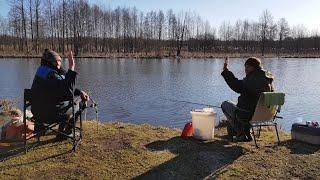Фидер в апреле 2020. Ловля разнорыбицы. Рыбалка с ночёвкой. Река Друть.  Шашлык из курицы.