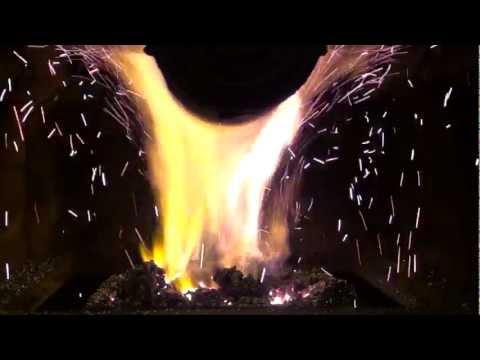 Rozhořívání hořáku v automatickém kotli.