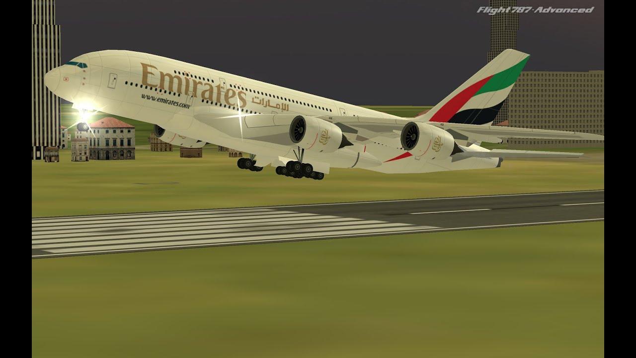 Flight 787 - Advanced -Airbus A380 - [EMIRATES from QATAR-Doha(OTTH) to  BANGLADESH-Dhaka(VGHS)]