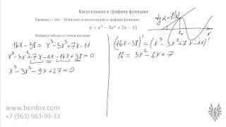 ЕГЭ по математике, задача B9: касательная к графику функции