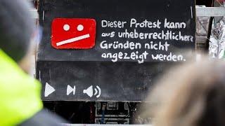 In Großstädten haben Zehntausende gegen Uploadfilter im Internet protestiert