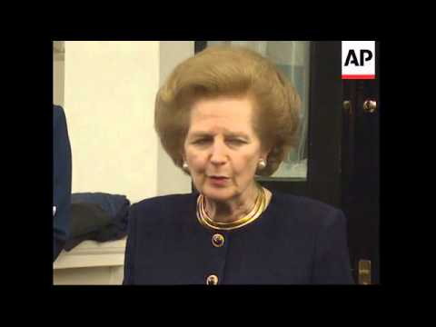 UK: LONDON: BARONESS THATCHER SPEAKS OF FORTHCOMING ELECTION
