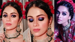 DEEPIKA PADUKONE Mumbai Party Inspired Makeup| Indian Bridal Makeup In Hindi