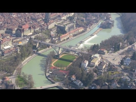 Beautiful Bern Switzerland: Aerial & Swiss Deluxe Hotel Schweizerhof