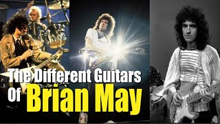 The Different Guitars Of Brian May Flying V Les Paul Stratocaster Burns Telecaster Ovation