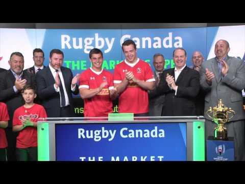 Rugby Canada opens Toronto Stock Exchange, Wednesday, June 21, 2017