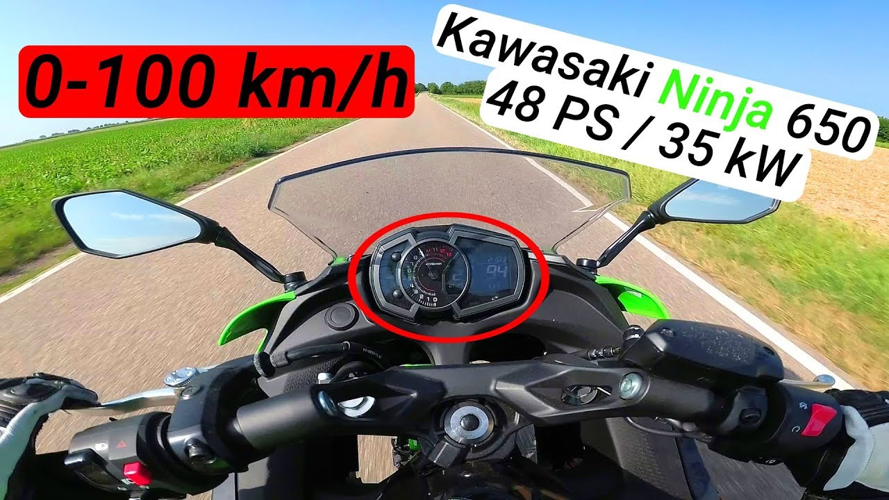 0 100 Kmh Kawasaki Ninja 650 2018 35kw48ps Beschleunigung Nicolife