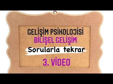 23) Bülent TANIK - Bilişsel Gelişim Piaget IV - (Gelişim Psikolojisi) 2021