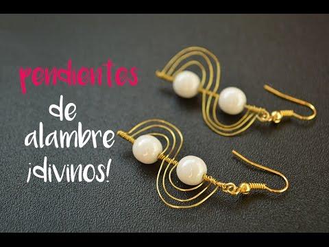 fa87fe50c91f Cómo hacer unos pendientes de perlas con alambre paso a paso. Cocoa  Abalorios