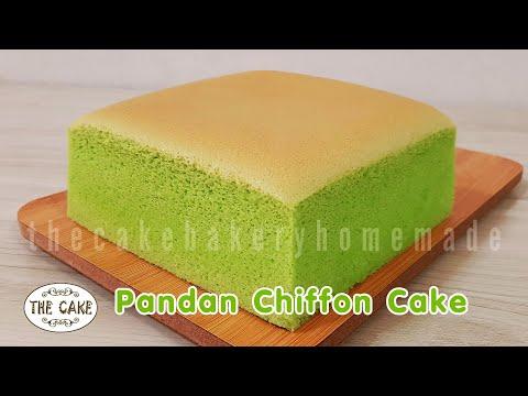 Pandan Chiffon Cake Recipe / Jiggly and Fluffy  : ชิฟฟ่อนใบเตย สูตรเนื้อฟู นุ่ม : By The Cake