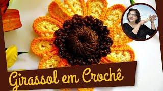 CROCHÊ - FLOR GIRASSOL 1