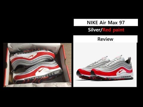 나이키 에어맥스 97 OG 실버 레드 맥스1 리뷰 - Nike Air Max 97 OG RED PAINT