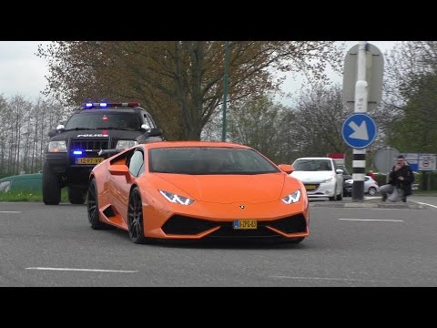 Supercars leaving to the Fast and Furious 8 Premiére | Meetingpoint De Meern |