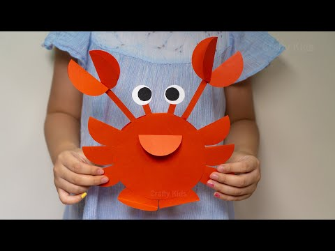 How to make a Paper Circle Crab | DIY Craft Ideas for Kids | Crab Craft from Paper Circle