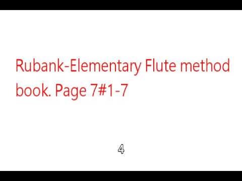 Rubank-Elementary Flute method book. Page 7 #1-7