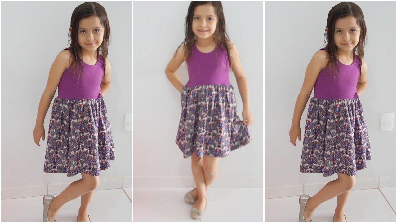 Costura para iniciantes Vestido infantil simples - YouTube