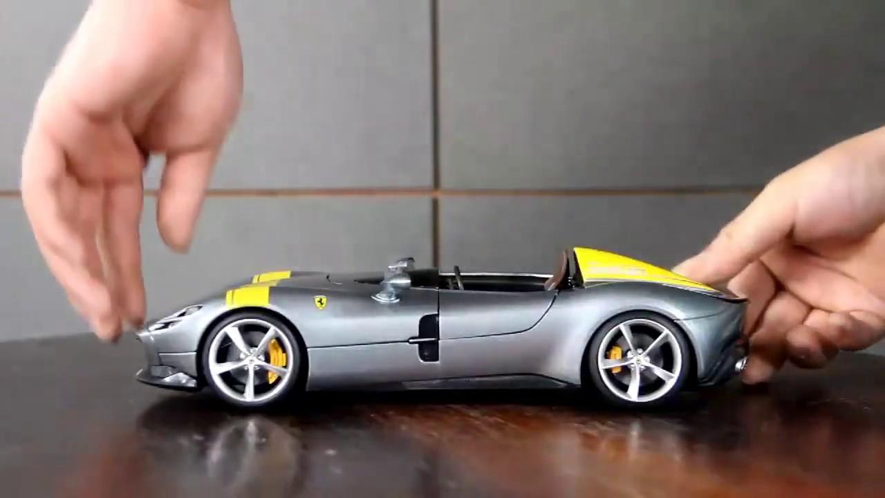 Ferrari Monza SP1 2018 grau Modellauto 1:18 Burago