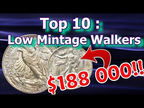 Top 10 Low Mintage Walking Liberty Half Dollar Coins Worth Money