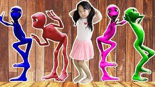 Suji VS alien!! learn colors with alien dance for kids 재밌는 외계인 댄스 놀이 컬러 색깔 배우기 Littlejoy