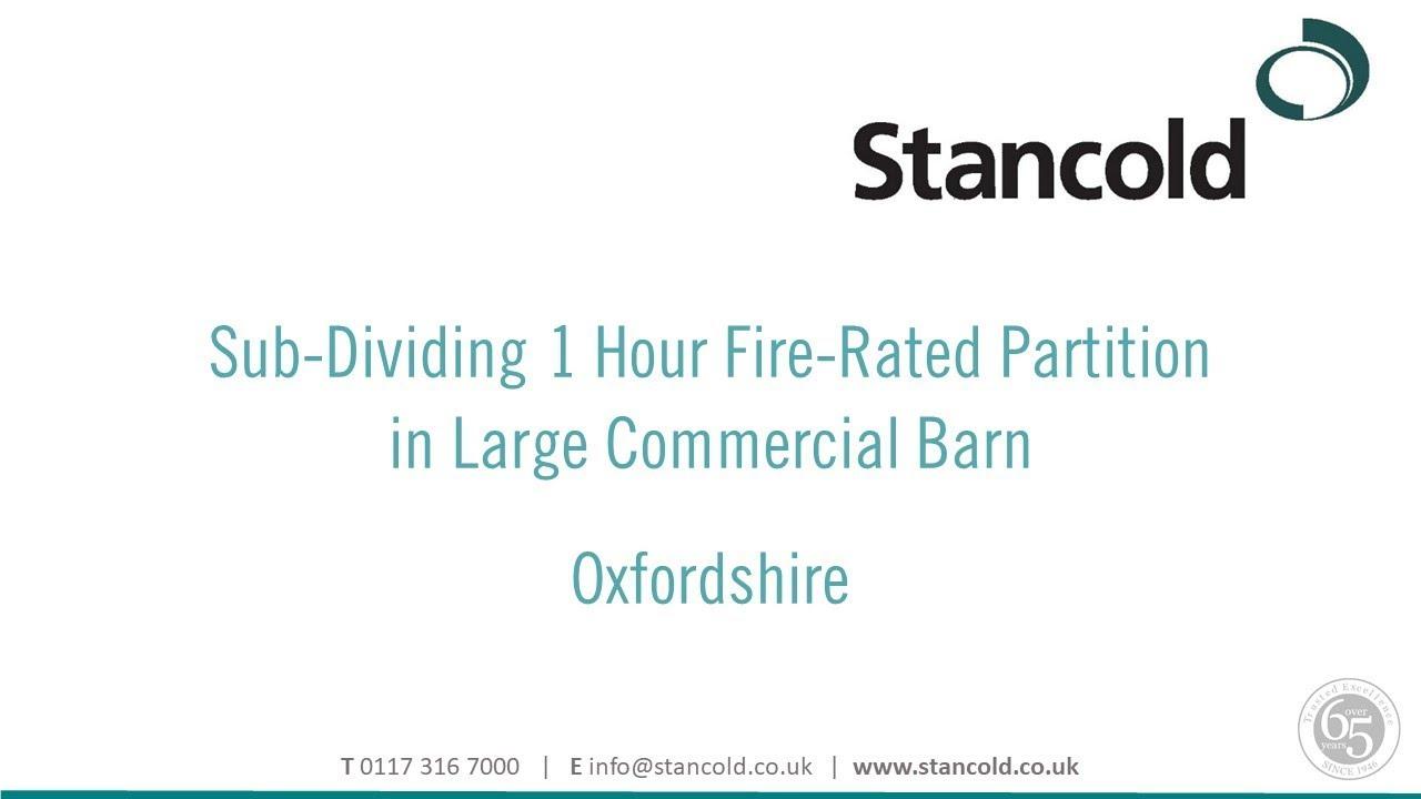Firewall Partitioning & Dividing Walls | Stancold