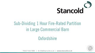 Sub-Dividing 1 Hour Fire-Rated Partition in Large Commercial Barn