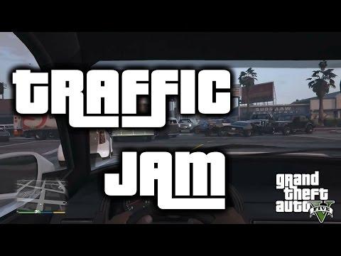 GTA 5 - Funny Traffic Jam - PS4 Gameplay