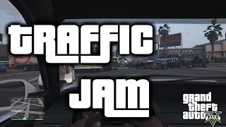 GTA 5 - Funny Traffic Jam - PS4 Gameplay