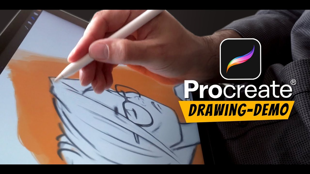 Drawing Straight Lines With Procreate : Drawing demo procreate ipad pro apple pencil youtube