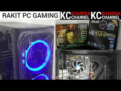 RAKIT PC GAMING, ASUS H61M-K, CORE i7 3770, RAM 8GB, VGA GT730 FORSA, SSD 120GB, HDD 1TB, PSU 400W