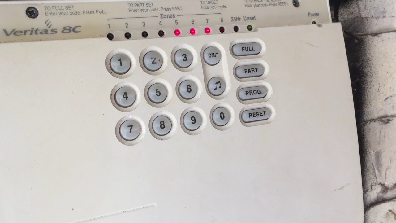 Texecom Veritas 8 Alarm Panel