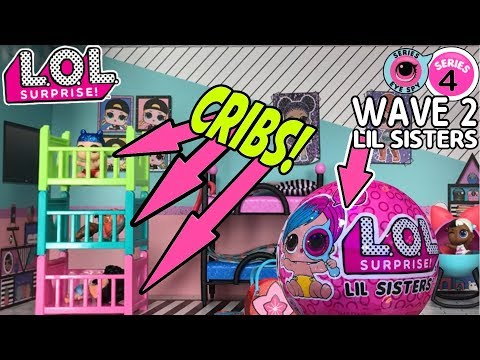 LOL Surprise Series 4 Wave 2 Lil Sisters | LOL Dolls, L.O.L. Surprise House Cribs! | LOL Doll Videos