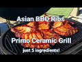 Asian BBQ Ribs - Primo Ceramic Smoker Grill - Low & Slow