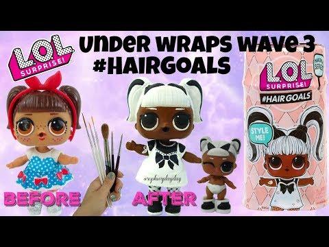 LOL Surprise Under Wraps Wave 3 Hairgoals Make Over Series Yang Q.T Custom LOL Surprise Doll DIY