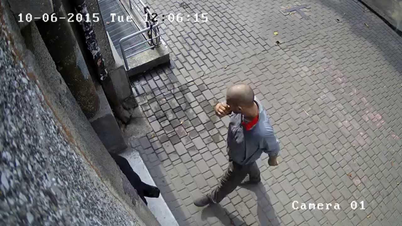 Воры камер наружного наблюдения (видео 1)