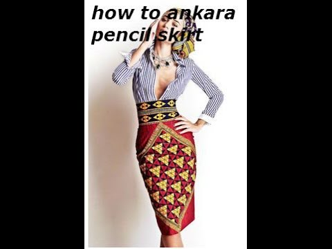 How to / ankara pencil skirt with zippers and pattern
