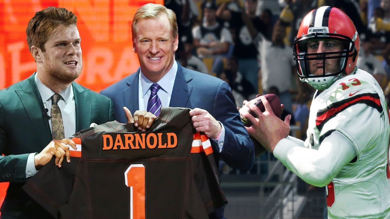 huge discount 9748b 0704c SAM DARNOLD DRAFTED BY THE CLEVELAND BROWNS?!- MADDEN 18 GAMEPLAY