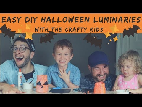 Easy DIY Halloween Luminaries