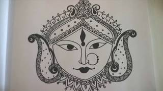 How to draw Durga Maa