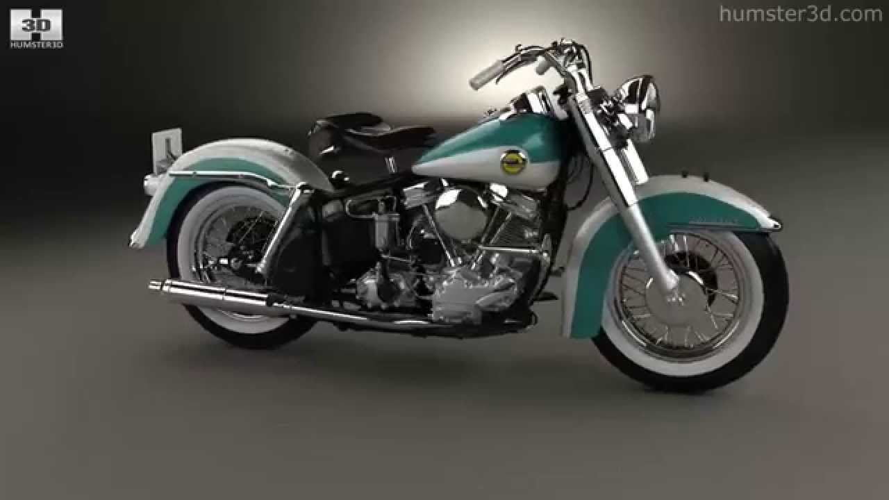 Harley-Davidson Panhead FLH Duo-Glide 1958 by 3D model store ...