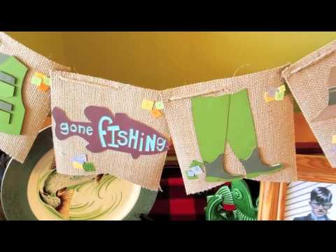 DIY Party Decor For Men And Boys: Fishing And Camping