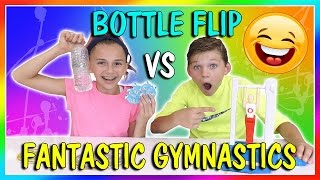 BOTTLE FLIP VS FANTASTIC GYMNASTICS CHALLENGE | We Are The Davises